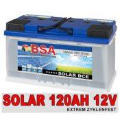 BSA Solarbatterie 120Ah C100 12V