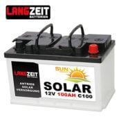 Solarbatterie 100Ah C100 12V Langzeit